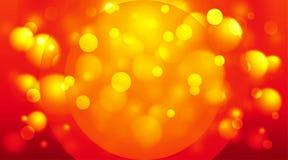 Vermelho e laranja do fundo dos círculos Fotografia de Stock Royalty Free