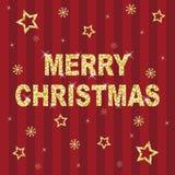 Vermelho e Natal do glitter do ouro ilustração royalty free