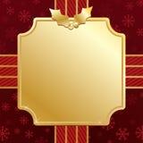 Vermelho e Natal do ouro Imagens de Stock Royalty Free