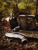 Vermelho e oxidado velhos Fotografia de Stock Royalty Free