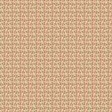 Vermelho e pálido - teste padrão azul da folha no bege Fotografia de Stock Royalty Free