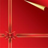 Vermelho e papel do ouro Imagem de Stock Royalty Free