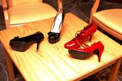 Vermelho e preto Foto de Stock