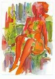 Vermelho e 'sexy', no.1 Fotos de Stock Royalty Free