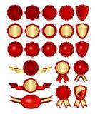 Vermelho e Tag do ouro Ilustração Stock