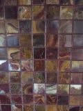Vermelho e telha Marbleized ouro Fotos de Stock Royalty Free