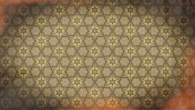 Vermelho e teste padrão do papel de parede da flor do vintage de Brown ilustração royalty free