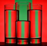Vermelho e verde Foto de Stock Royalty Free