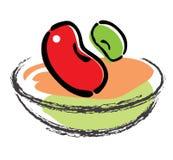 Vermelho e verde Ilustração Stock