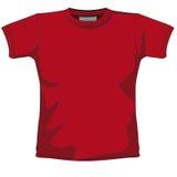 Vermelho em branco do t-shirt Foto de Stock Royalty Free