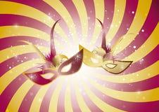 Vermelho espiral da máscara Foto de Stock Royalty Free