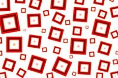 Vermelho esquadrado Imagem de Stock Royalty Free