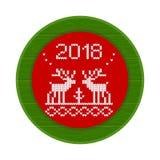 vermelho feito malha 2018 cervos do quadro Fotografia de Stock