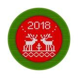 vermelho feito malha do quadro de 2018 cervos Imagem de Stock Royalty Free