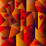 Vermelho geométrico abstrato do fundo Foto de Stock Royalty Free
