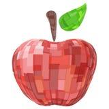 Vermelho geométrico abstrato maçã isolada do fruto do vetor Foto de Stock