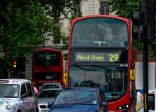 Vermelho grande ao verde de madeira Foto de Stock Royalty Free