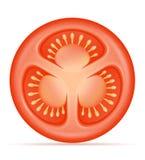Vermelho maduro ilustração cortada do vetor do estoque do tomate ilustração stock