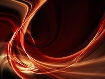 Vermelho no elemento abstrato preto do frame Ilustração do Vetor