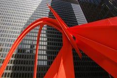 Vermelho no preto Foto de Stock Royalty Free