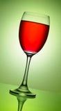 Vermelho no wineglass Foto de Stock Royalty Free