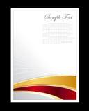 Vermelho, ouro e fundo abstrato branco Imagem de Stock Royalty Free