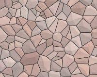 Vermelho pálido do teste padrão da parede de pedra Fotos de Stock