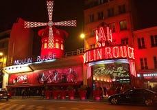 Vermelho Paris de Moulin fotografia de stock royalty free