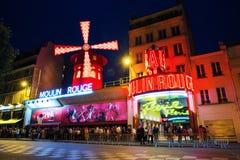 Vermelho Paris de Moulin Imagens de Stock