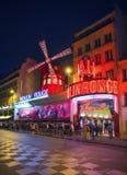 Vermelho Paris de Moulin Foto de Stock Royalty Free