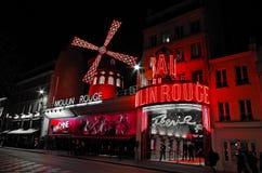 Vermelho Paris Frane de Moulin Foto de Stock