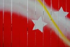 Vermelho pintado de madeira natural Fotos de Stock