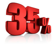 Vermelho 35 por cento Foto de Stock Royalty Free