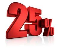 Vermelho 25 por cento Fotografia de Stock Royalty Free