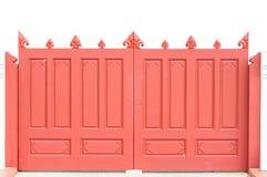 Vermelho a porta Fotografia de Stock Royalty Free