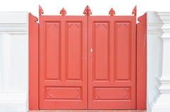Vermelho a porta Foto de Stock