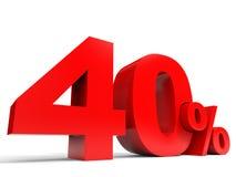 Vermelho quarenta por cento fora Disconto 40% Foto de Stock Royalty Free