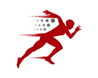 Vermelho running do homem Imagem de Stock Royalty Free