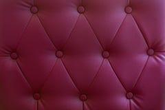 Vermelho sem emenda da textura de couro clássica luxuosa. Imagens de Stock Royalty Free
