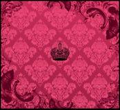 Vermelho sem emenda do ornamento floral do fundo Imagens de Stock Royalty Free