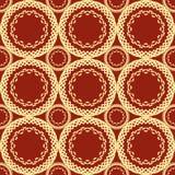 Vermelho sem emenda e teste padrão amarelo do pêssego Fotos de Stock Royalty Free