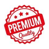 Vermelho superior do carimbo de borracha da qualidade em um fundo branco Imagens de Stock Royalty Free