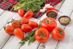 Vermelho - tomates deliciosos Fotos de Stock