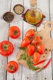 Vermelho - tomates deliciosos Fotografia de Stock Royalty Free