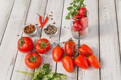 Vermelho - tomates deliciosos Foto de Stock Royalty Free