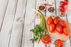 Vermelho - tomates deliciosos Imagem de Stock Royalty Free