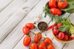 Vermelho - tomates deliciosos Fotos de Stock Royalty Free