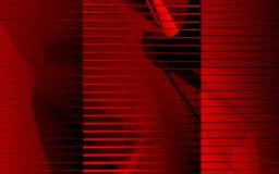 Vermelho transparente Imagens de Stock