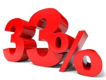 Vermelho trinta e três por cento fora Disconto 33% Imagens de Stock
