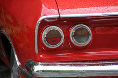 Vermelho um carro fotos de stock royalty free